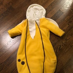 Infant banana costume one size
